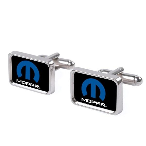 Mopar Logo Fcg Black Blue White Cufflink Set One Size