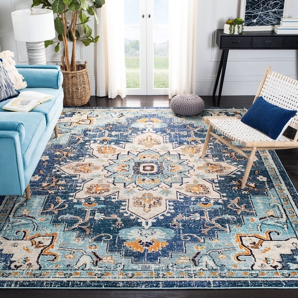 Safavieh Madison Diederike Boho Medallion Distressed Rug. Opens flyout.