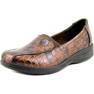 Easy Street Gage Women WW Round Toe Synthetic Brown Loafer