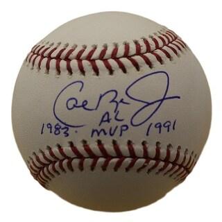 Cal Ripken Jr Autographed Baltimore Orioles OML Baseball 1983 AL MVP 1991 JSA