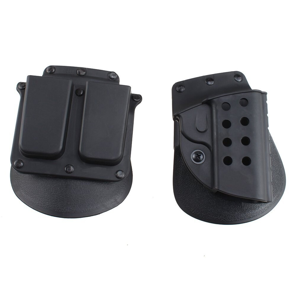 AGPtek Quick Release Tactical Right Hand Holster & Magazine Pouch for Colt 19111 thumbnail