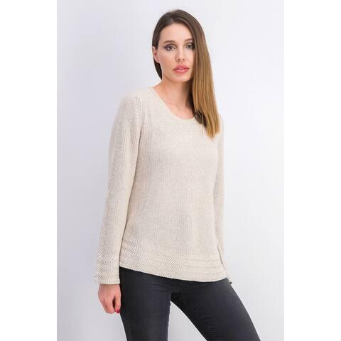 Style & Co Women's Boxy Knit Pullover Sweater Beigekhaki Size Extra Large - X-Large