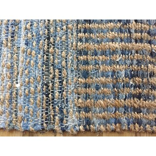 Shop Safavieh Cape Cod Handmade Natural Blue Jute