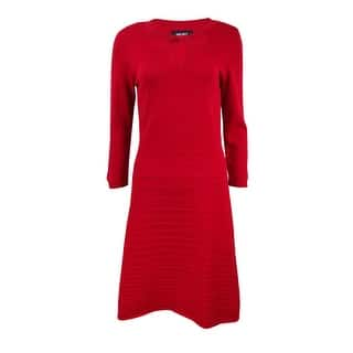 Nine West Women's Cutout Fit & Flare Sweater Dress|https://ak1.ostkcdn.com/images/products/is/images/direct/adb4208132717bf8becf78ce13e0d5ad6ee40ca4/Nine-West-Women%27s-Cutout-Fit-%26-Flare-Sweater-Dress.jpg?impolicy=medium