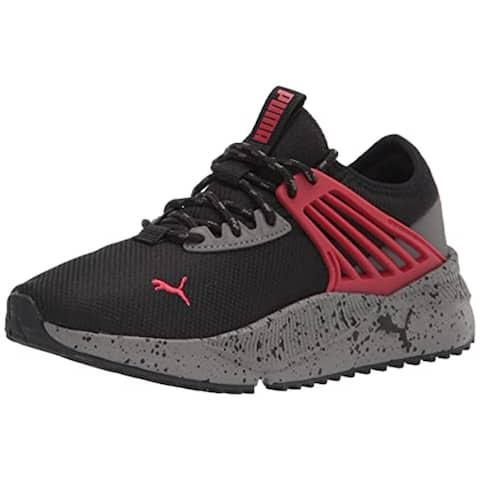 PUMA Pacer Future Trek Sneaker Black-Urban Red-Castlerock