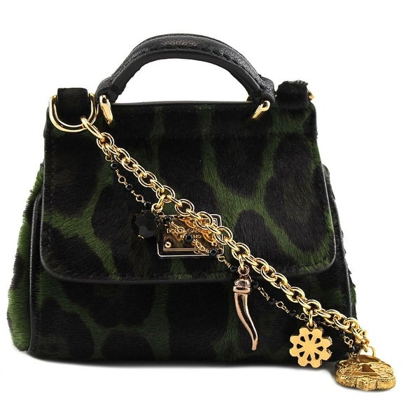 361fae4bb2ec Dolce   Gabbana Mini Miss Sicily Leopard-Print Satchel Women Green Satchel