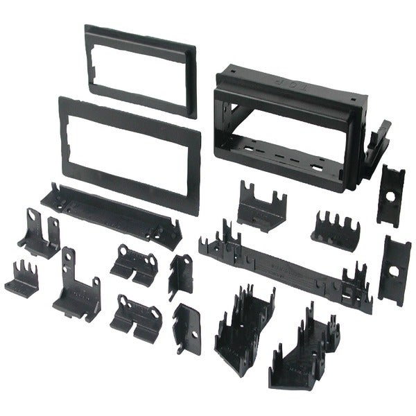 """In-Dash Installation Kit (Gm(R) Universal 1982-2003 With Factory Brackets & Flat, .5"""" & 1"""" Trim Plates Single-Din)"""