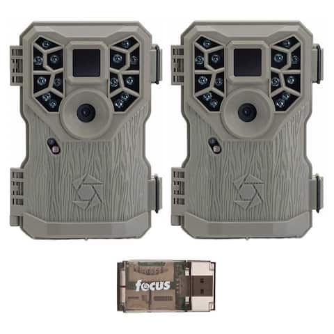 Stealth Cam PX14X P Digital Scouting Trail Game Camera (2) with Reader