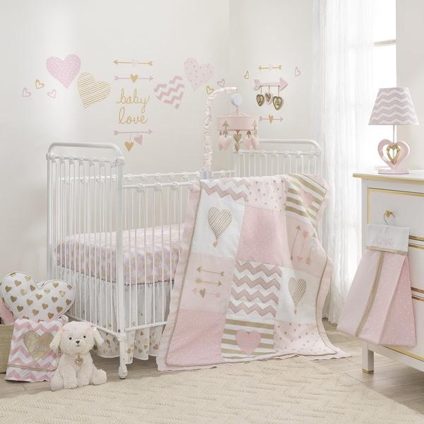 Shop Lambs Amp Ivy Baby Love Metallic Gold Pink White Hearts