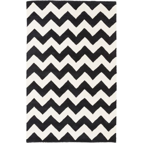 Hand-tufted Missy Chevron Wool Area Rug