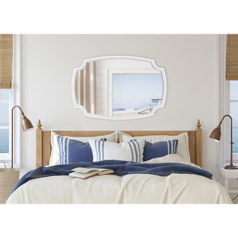 Kate and Laurel Orianne Wood Framed Wall Mirror
