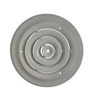 """Mintcraft SRSD08 Round Ceiling Diffuser, 8"""", White"""
