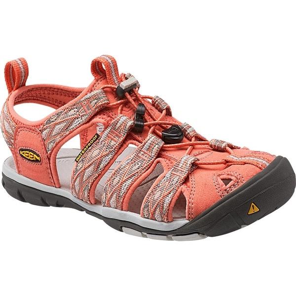 Keen Clearwater CNX Women Sandal, Water Shoe, Fusion Coral/Vapor