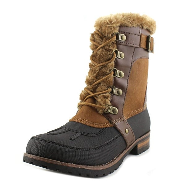 Rock & Candy Danlea Women Round Toe Synthetic Brown Winter Boot