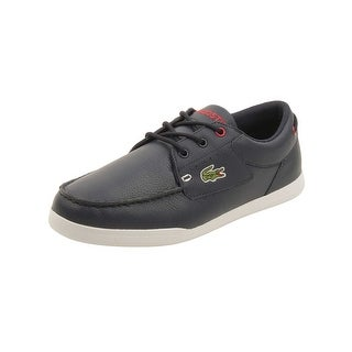 Lacoste Mens Codecasa 316 Boat Shoes in Navy/Red