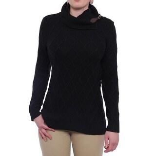 Charter Club Long Sleeve Turtleneck Sweater Women Regular Sweater