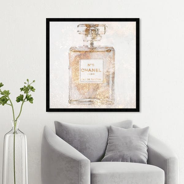 Oliver Gal Parfum Glimmer Fashion And Glam Wall Art Framed Print Perfumes Gold White Overstock 32194571