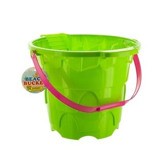 Kole Imports Large Castle Shape Beach Plastic Bucket, 20 Piece
