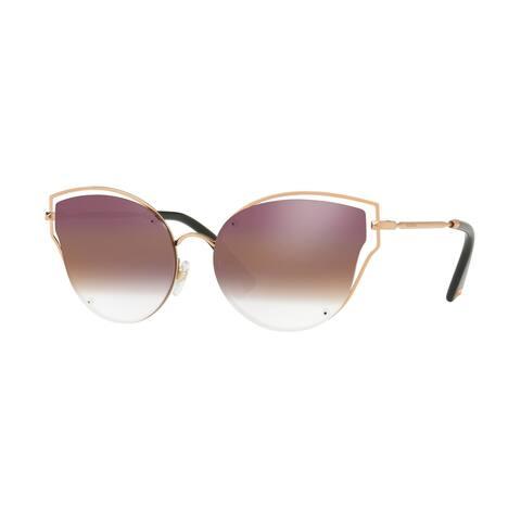 Valentino VA2015 3004E7 58 Rose Gold Woman Irregular Sunglasses