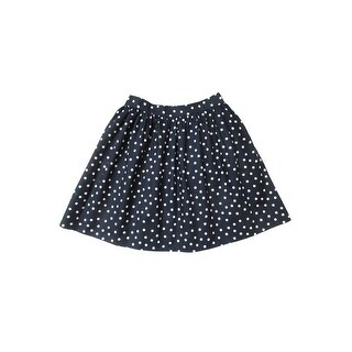 Sophie Catalou Little Girls Navy White Polka Dot Pattern Circle Skirt