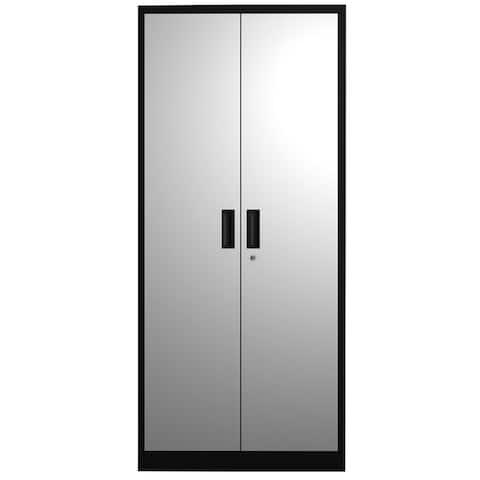 5 Shelf Metal Storage Cabinet with 4 Adjustable Shelves andLockable Doors