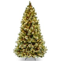 7.5 ft. Wintry Pine(R) Medium Tree with Clear Lights - green