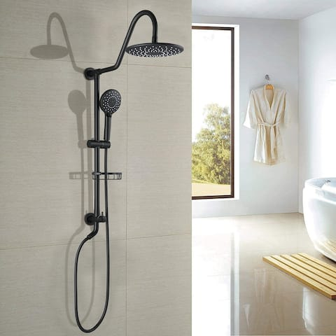 """Proox 10"""" ABS Rain Showerhead System with Shower Hand Sprayer w/ Soap Dish Not Included Valve"""