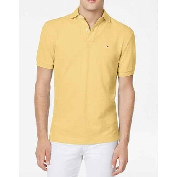 04c70a1e Shop Tommy Hilfiger Yellow Mens Size 2XL Solid Embroidered Polo Shirt -  Free Shipping On Orders Over $45 - Overstock - 27914958