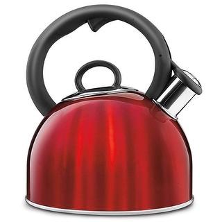 Cuisinart CTK-S17MR Aura Stainless Steel Tea Kettle, 2 Quart, Metallic Red