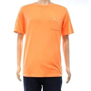Tommy Bahama NEW Orange Mens Size Medium M Pocketed Crewneck Tee Shirt