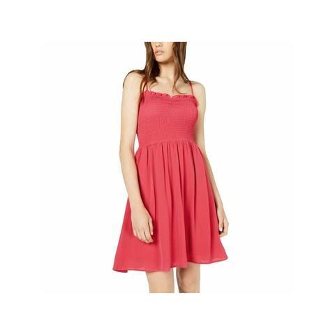 BEBOP Womens Red Spaghetti Strap Mini Sheath Dress Size XS