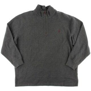 Polo Ralph Lauren Mens Big & Tall Mock Neck French Rib 1/2 Zip Sweater