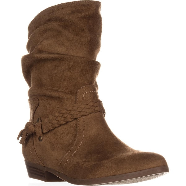 Indigo Rd. Jalena Braided Strap Slouch Ankle Boots, Medium Brown - 6 us