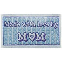 Made With Love By Mom - Iron-On Lovelabels 4/Pkg