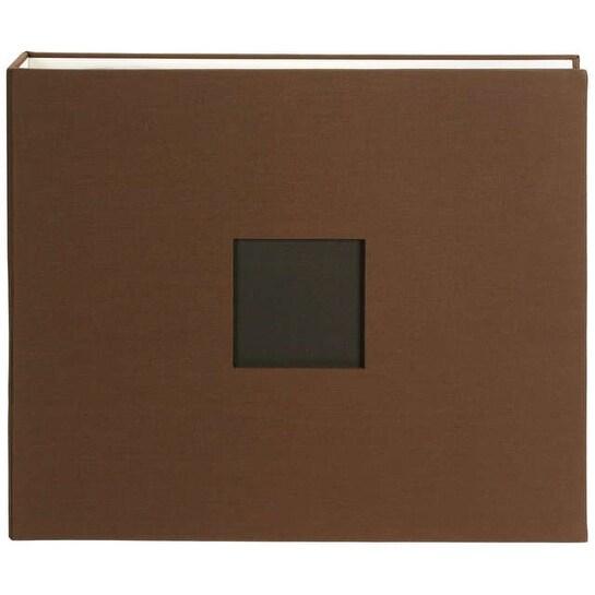 "American Crafts Cloth D-Ring Album 12""X12""-Chestnut - Brown"