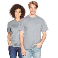 Hanes Beefy-T Adult Pocket T-Shirt - Size - 3XL - Color - Light Steel