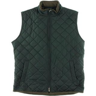 Peter Millar Mens Quilted Fleece Lined Outerwear Vest - XL