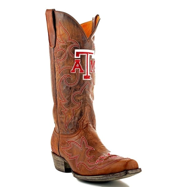 Gameday Boots Mens College Team Texas A&M Reveille Brass