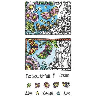 """Color Me Clear Stamps 4""""X7.75""""-Beautiful"""