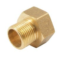 Unique Bargains 19.5mm Female to 16mm Male Thread Brass Hex Bushing Adapter