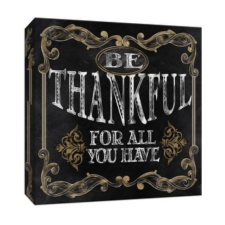 """PTM Images 9-146676  PTM Canvas Collection 12"""" x 12"""" - """"Be Thankful"""" Giclee Sayings & Quotes Art Print on Canvas"""