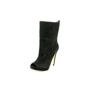 BCBGeneration Gretchen Open-Toe Leather Ankle Boot