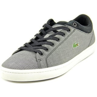 Lacoste Straightset Men Round Toe Canvas Gray Sneakers