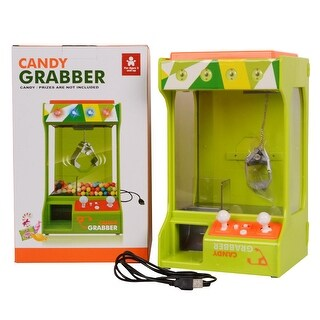 Costway Electronic Candy Grabber Machine Claw Arcade Game Battery Operated light & Music