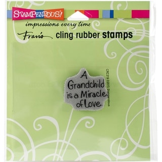 "Stampendous Cling Stamp 3.5""X4""-Grandchild Love"