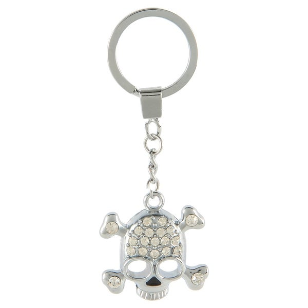 Pilot Automotive Silver Crystal Skull Key Chain