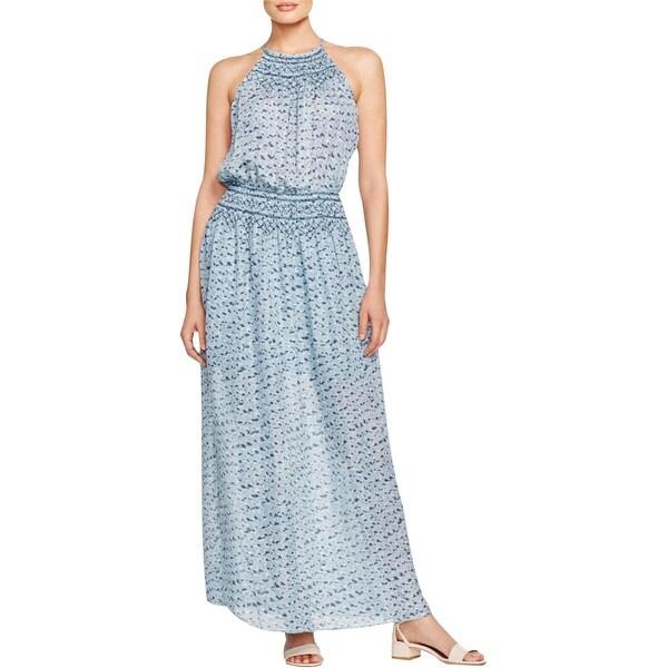 Joie Womens Ahern Maxi Dress Silk Printed