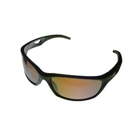 Timberland Mens Sunglass Matt Brown Plastic Wrap, Light Brown Lens TB7124 49G
