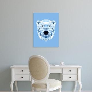 Easy Art Prints Andreas Lie's 'Geometric Polar Bear' Premium Canvas Art
