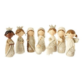 9-Piece Religious Faux Knit Children's First Christmas Nativity Set